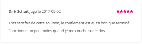Orthese Mr. Anti Ronflement Commentaires Client 2017-09-02